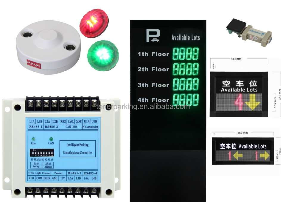 CE Approved Parking Location Detector In Parking Guidance System