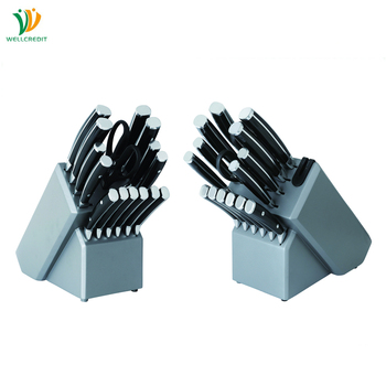 16 pcs/set Inox Double Forged Kitchen Knife Set with 6pcs Steak Knives in Wooden Block