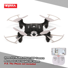 Original SYMA X21W RC Mini Drone Mini with WIFI FPV HD Camera Quadcopter 2.4GHz 4CH 4Aixs Gyro Altitude Hold Mode Helicopter