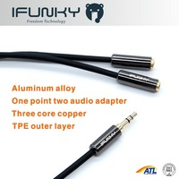 1 male to 2 female audio cable