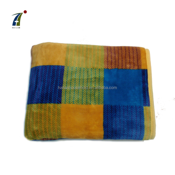 Wholesale Customized High Quality 100% Polyester Lattice Flannel Fleece Knee Blanket