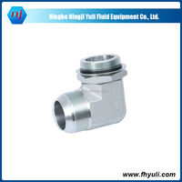 China supply Hydraulic Fittings BSP Tube Fitting Nipple Hydraulic Elbow Adapter