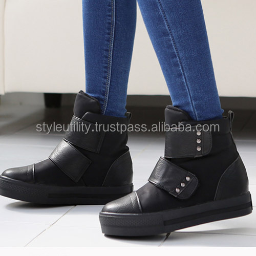 2sbg05112 3cm platform winter padding sneakers boots Made in korea