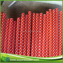 broom handle pvc cover wood round pole