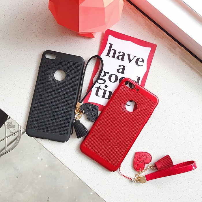 Fashion Cute Business Style Heart Tassel Bracelet TPU Soft Case For IPhone 7 Plus Phone Cover Bag Case For IPhone 6 6s Plus Capa