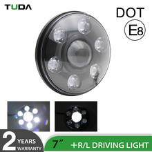 DOT E9 CE ROHS Position Light IP67 Left Right Handing Side Offroad Waterproof 7 inch Led Driving Light