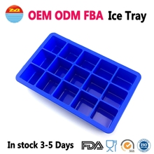 Cool Flexible Easy Release Large Wholesale Make Your Own Custom Personalized Silicone Rubber Mold Ice Cube Trays for Mini Fridge