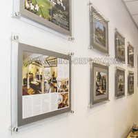 Glass acrylic photo picture frame clear poster frame