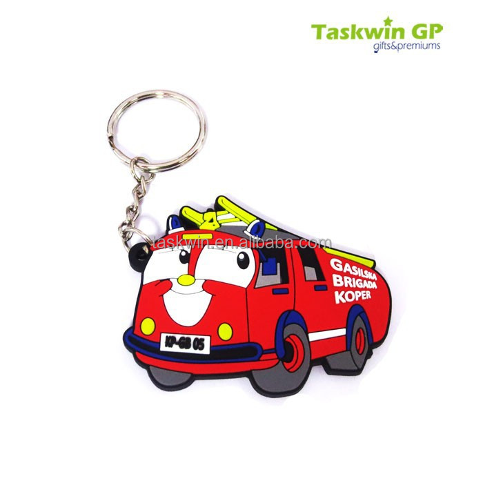 Custom high quality soft rubber keyring/promotional gift soft pvc keychain for car