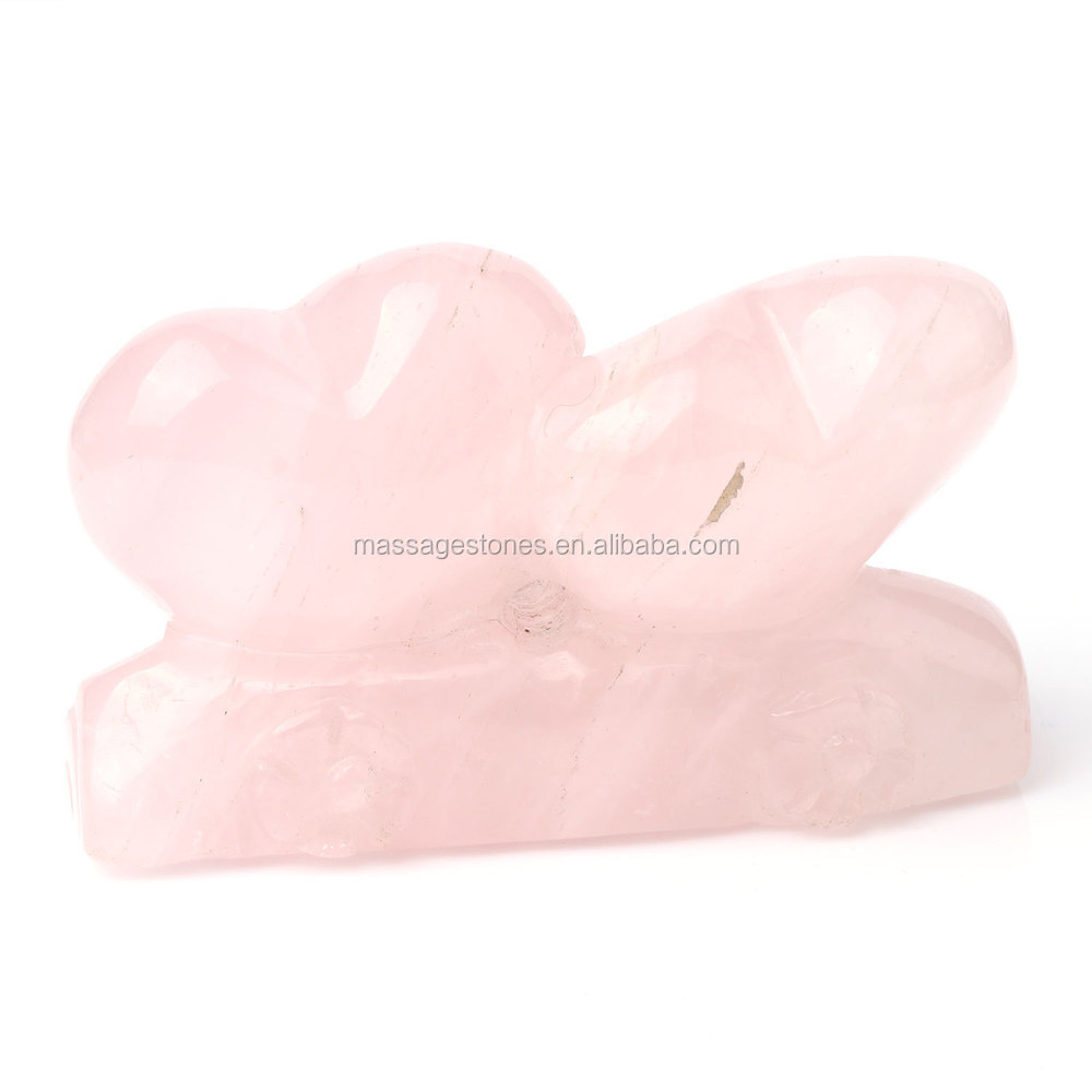 craving double rose quartz heart for ture love