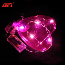 Hanging Led light heart shaped glass balloon decoration