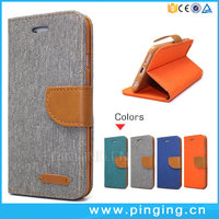 Wholesale Wallet Style Mixed Colors Denim Leather Flip Cover For Coolpad Catalyst 3623A