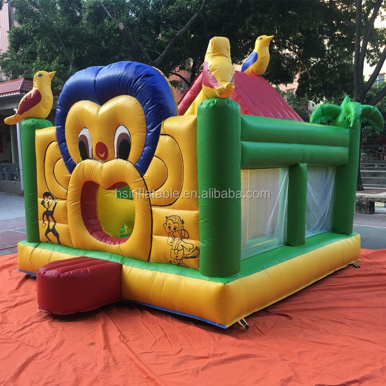 2017 hot sale cheap price Monkey cartoon commercial jumping castle inflatable bouncer for kids