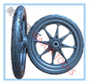 16 inch pneumatic rubber wheel with plastic rim for stroller