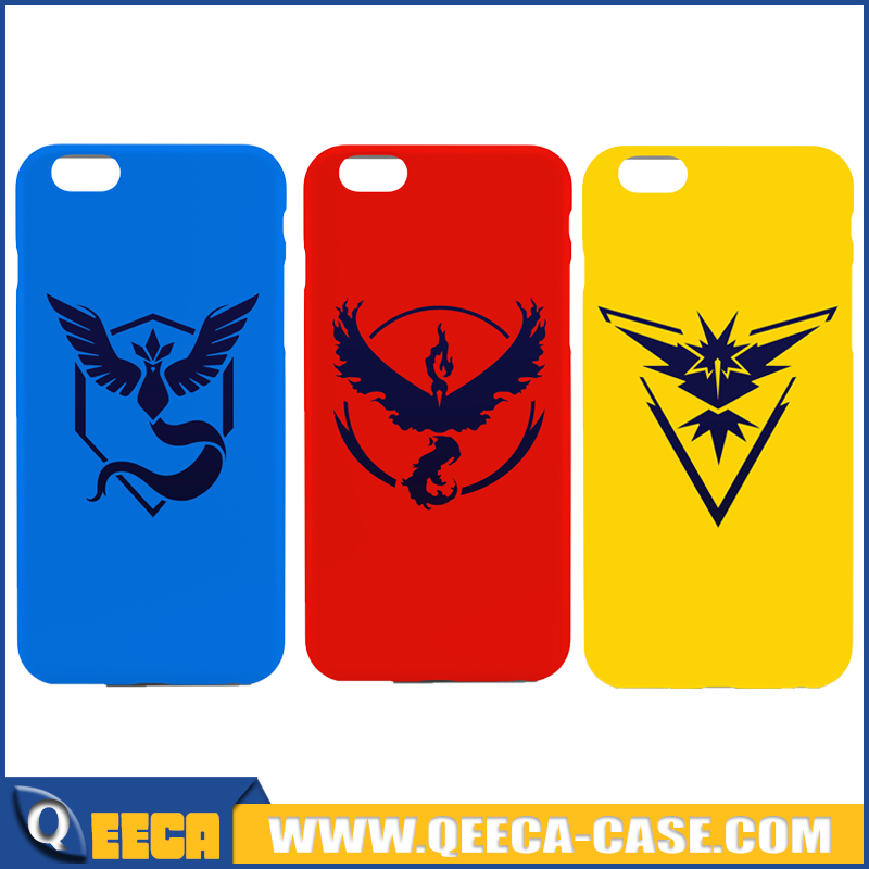Hot selling pokemon go case for iphone 6/6s plus, custom case soft TPU/ plastic PC pokemon go design print phone case