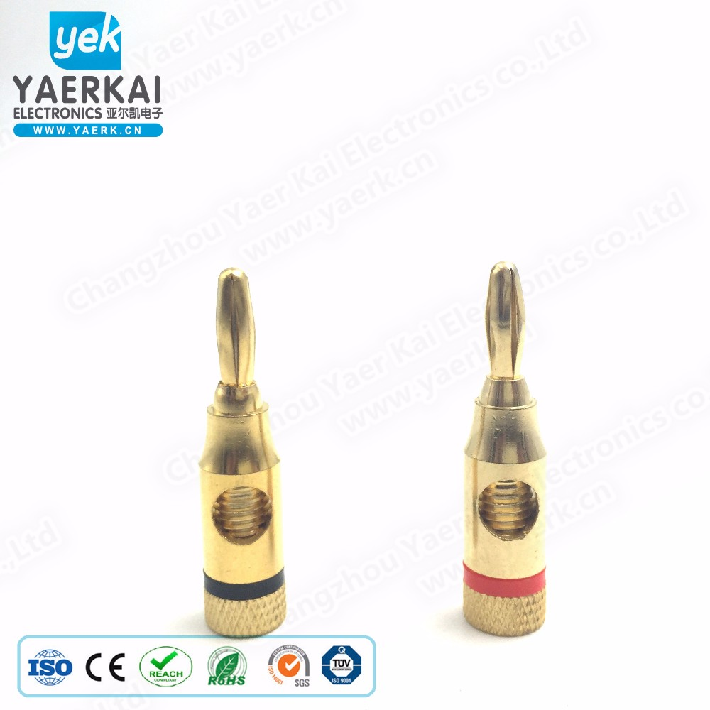 gold plated 4mm high quality banana plug be popular in the world
