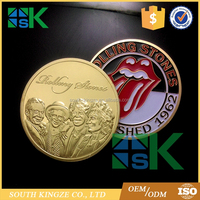 Gold Plated The Rolling Stones Commemorative Coins Music Art Collection Gift