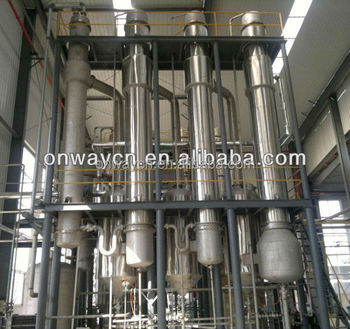 SHJO high efficient factory price Titanium vacuum falling film Evaporator Evaporation Crystallizer Waste Water Treatment