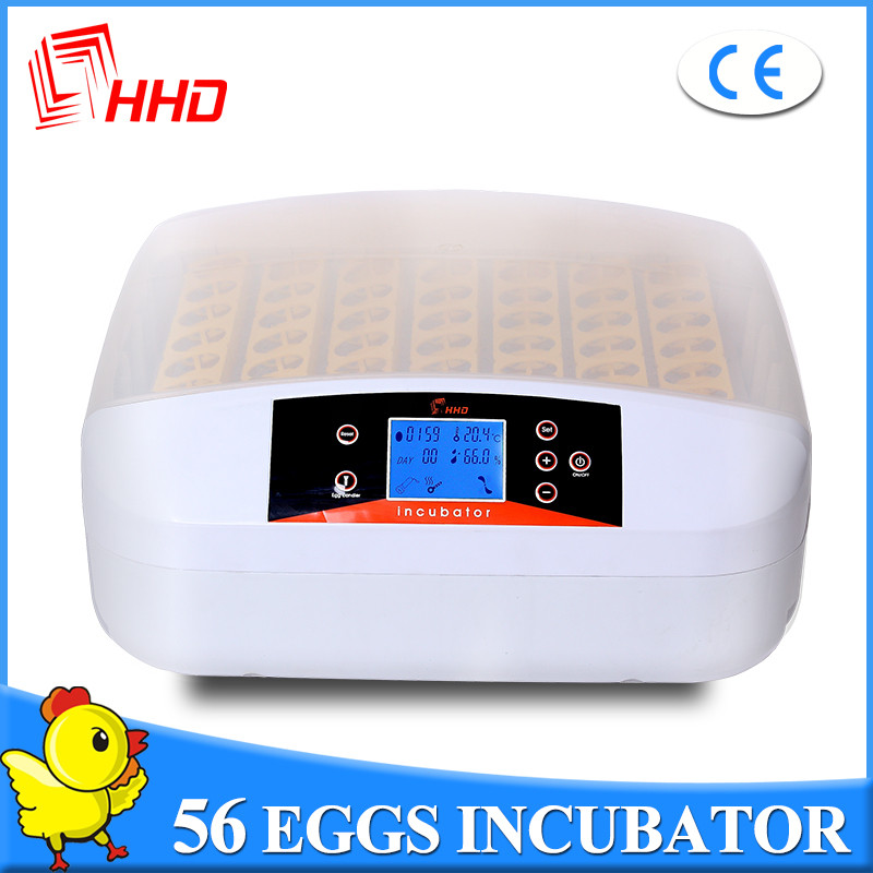 Newly designed LED light baby incubators egg for sale Automaitc 56 eggs incubator CE approved