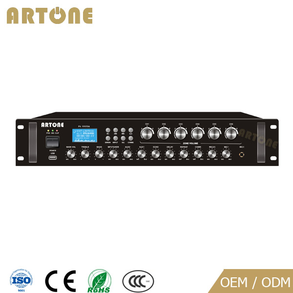 Public Address 120w 6 Zone Mp3 Fm Audio Distribution Amplifier ...