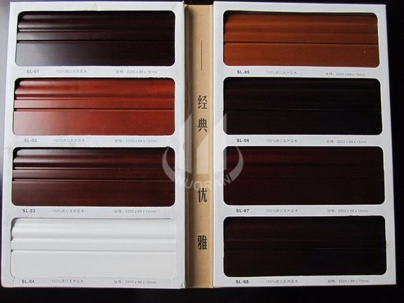 Good Quality Low Price Interior Decorative Wood Baseboard / Skirting