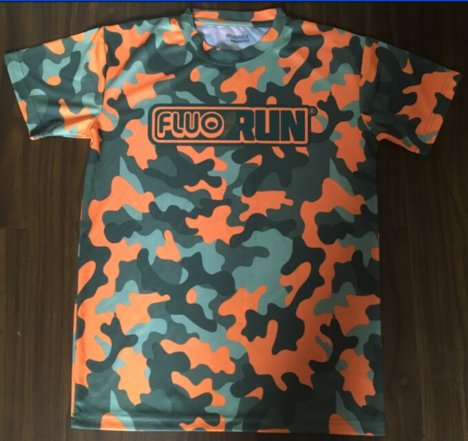 Camouflage Fluor Sublimation t shirt in custom design