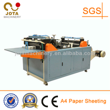 Automatic Paper A4 Size Sheeting Machinery, Roller Paper Sheeter, Printed Paper Roll to Sheet Cutting Machine