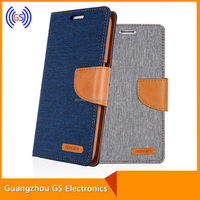Goospery Canvas Leather Case Cover Jeans Pattern For Samsung Galaxy Trend 2 lite