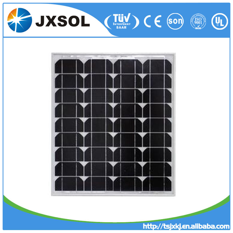 complete system pv module mono crystalline 50 watt solar panel for big project