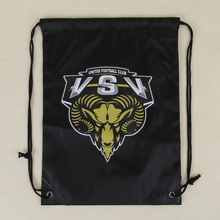 wholesale high quality 210D polyester drawstring bag, polyester sports gym backpack bag ,