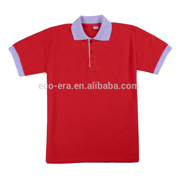 180g 100% Polyester Short Sleeve Color Collar , Wholesale Blank <strong>T</strong> <strong>shirts</strong> , Custom Printed & Embroidery Design