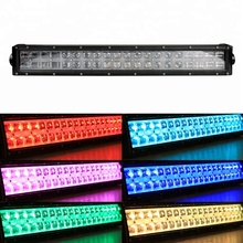 With wireless remote control multi color strobe aluminum housing jeep car driving wholesale rgb led offroad light bar