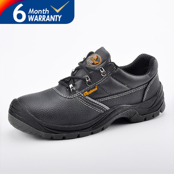 Cheapest shoes China safetoe leather safety shoes for men low shoes