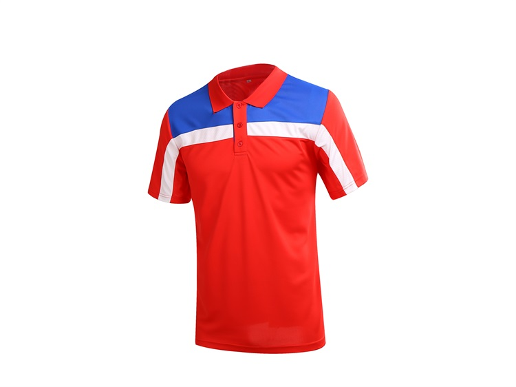 custom blue and red color tennis jersey for men