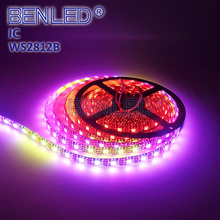 Programmale 5050RGB WS 2812B Pixel DC 5V 12V Digital Addressable Full Color RGB Flex LED WS2812B IC Strip Tape