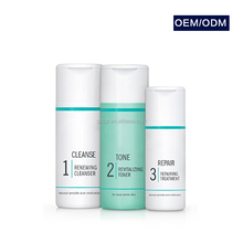 Quick effect natural herbal skincare set acne treatment product