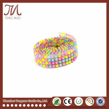 Adhesive mixed color pearl rhinestone roll sticker for decor