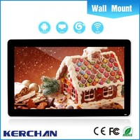 32 Inch Wall Mounted LCD touch screen restaurant menu with LG/Samsung original panel
