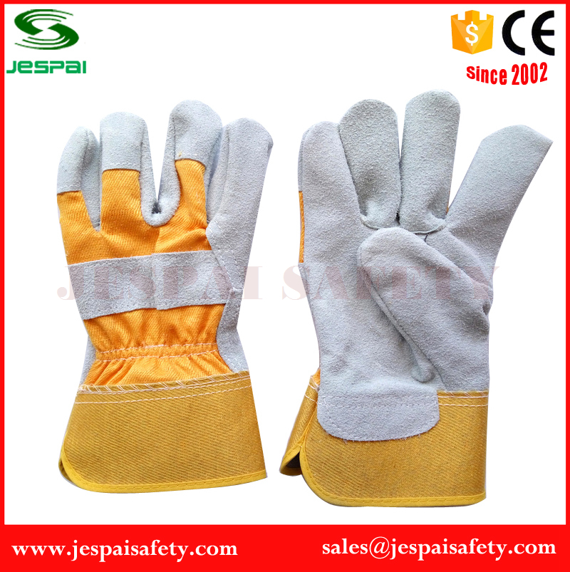 10.5 inches Genuine Leather Palm of Cow Split Leather glove