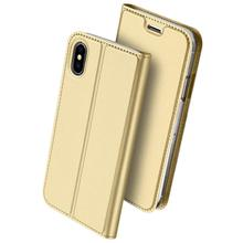 WinTop Rose Gold Flip Leather PU Wallet Smart Case Kickstand Card Holder Clear TPU Bumper Slim Thin Cover Case for iphone X