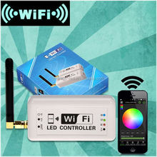 wifi remote control time and music control DC12-24V RGB led controller for any RGBW/RGB LED strip