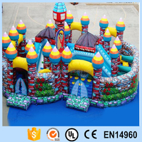 Rose garden Bouncy castle/inflatable pvc bouncer with rose garden