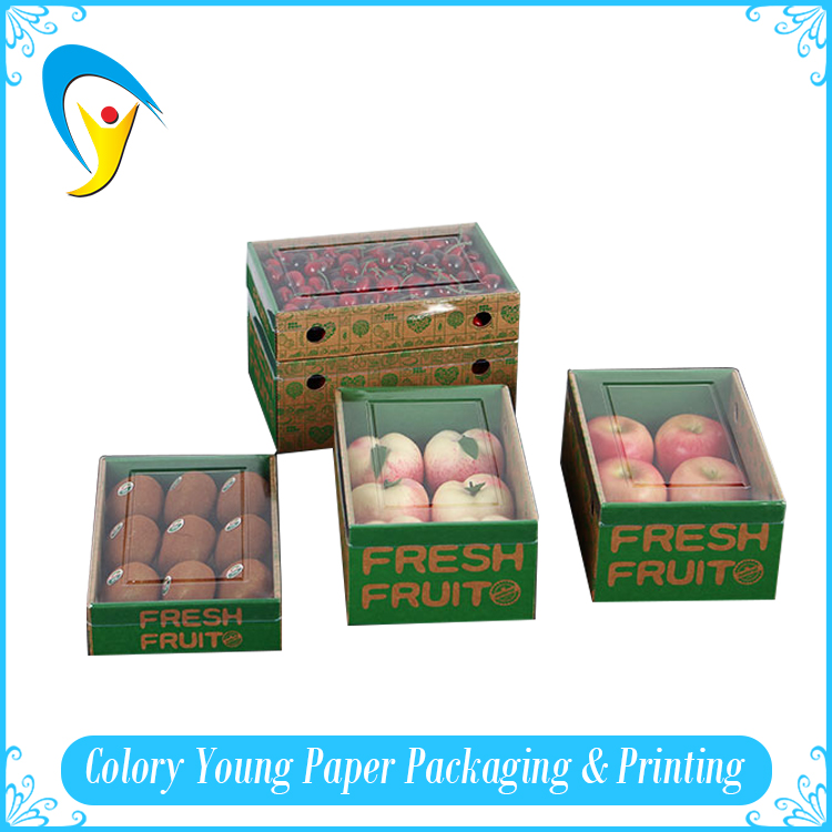 2016 custom made fresh apple fruit cardboard packaging box for fruit and vegetable