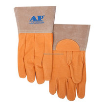 AP-1100 Workplace <strong>safety</strong> supplies quality Pigskin Leather Welding Gloves
