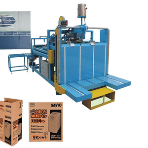 Sheet pasting machine carton box making semi automatic folder gluer machine