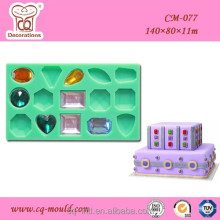 Hot Sale Cake Decorating Supplier Diamond 3D Silicone Mold