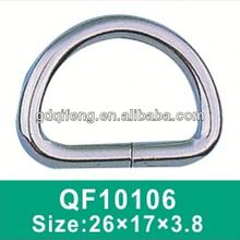metal round spring d ring alloy buckles