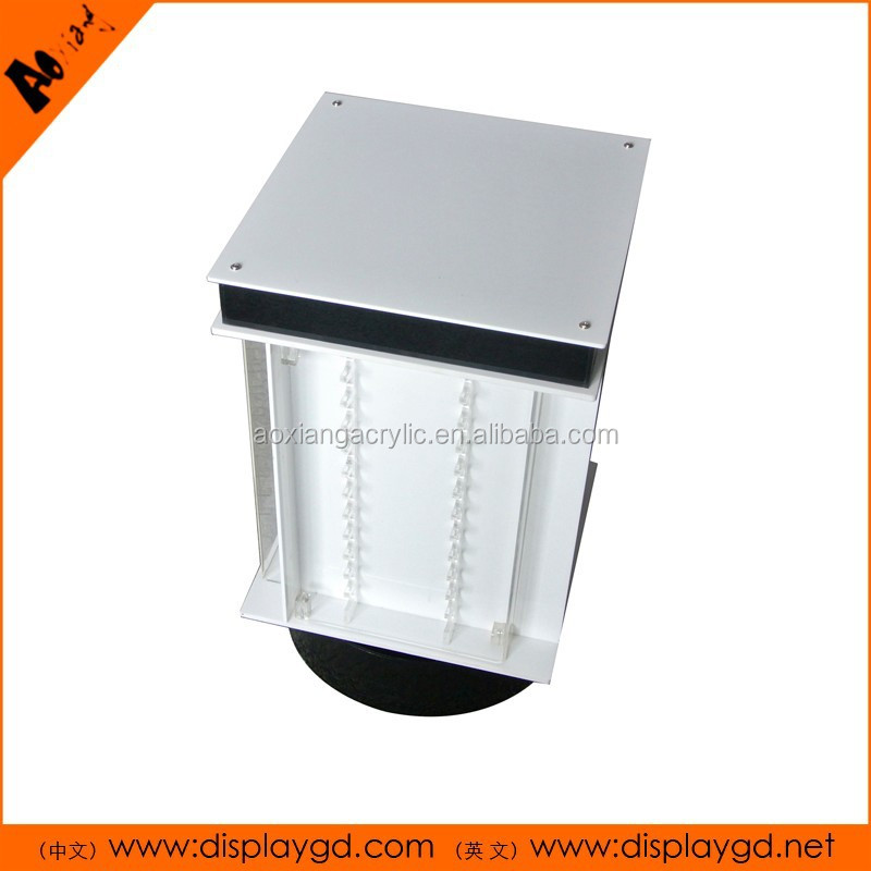 Customized Acrylic/metal durable/lockable/rotatable jewelry display cabinet/showcase