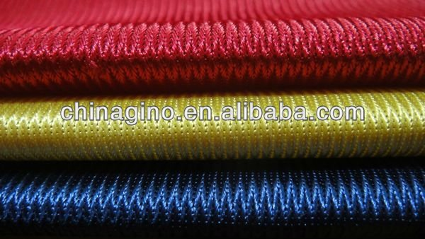 100% polyester shiny tricot dazzle fabric for shoes