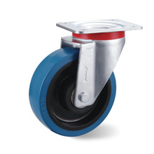 Factory supply hot sale rubber caster with brake inserted rod and braking omni-directional wheel
